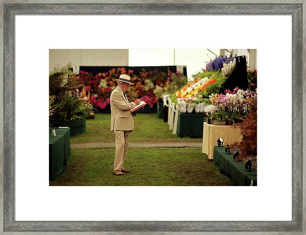The Annual Hampton Court Flower Show Is Framed Print