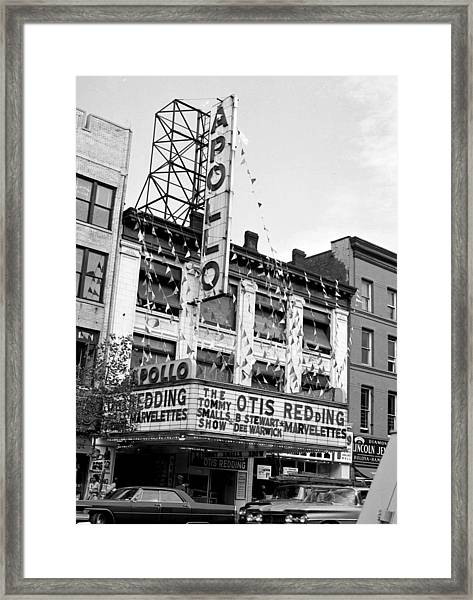 The Apollo Theater In Harlem. Otis Framed Print by New York Daily News Archive
