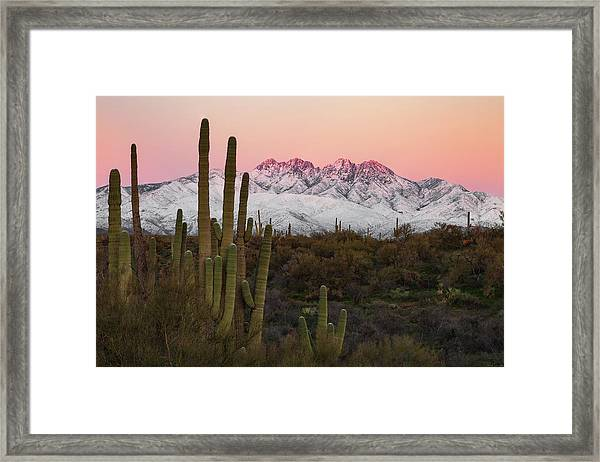 The Arizona Alps Framed Print