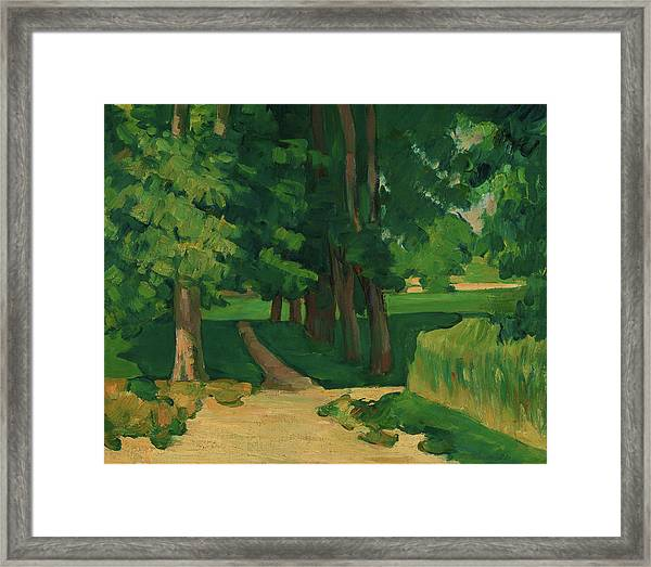 The Avenue At The Jas De Bouffan - Digital Remastered Edition Framed Print