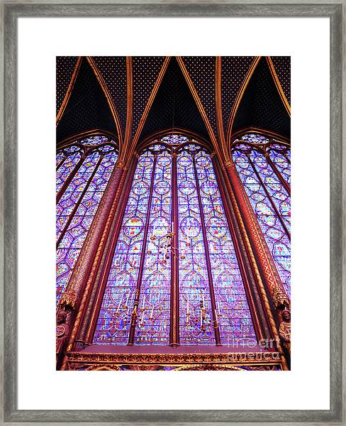 The Awe Of Sainte Chappelle Framed Print