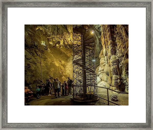 The Bat Cave Framed Print