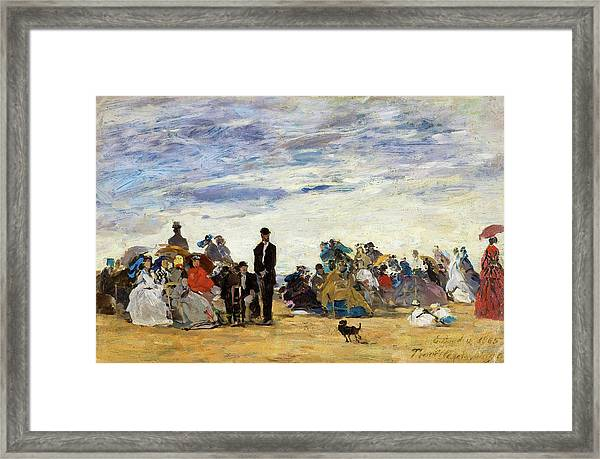 The Beach At Trouville - Digital Remastered Edition Framed Print