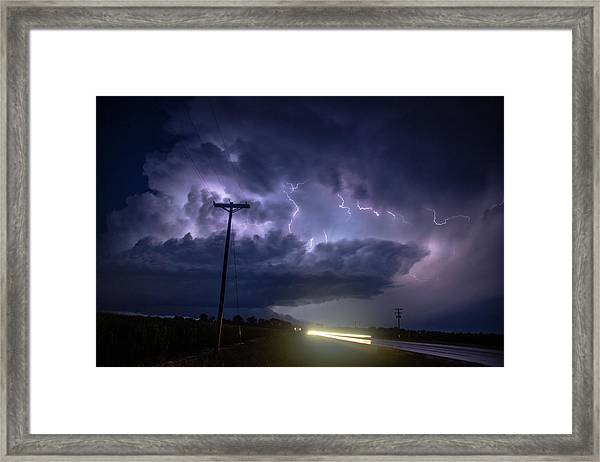 The Best Supercell Of The Summer 043 Framed Print