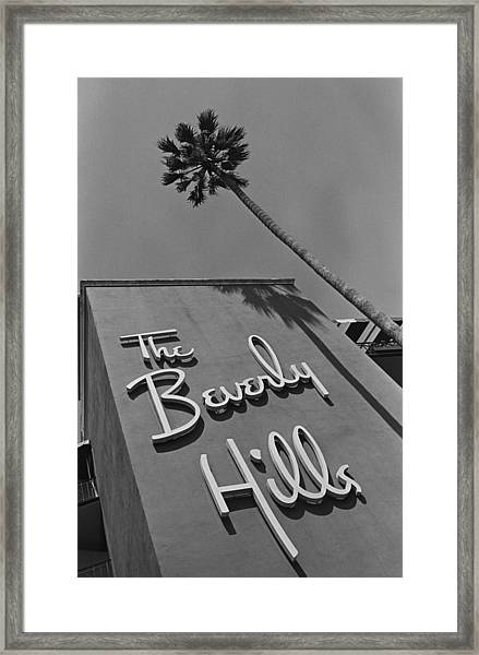 The Beverly Hills Hotel Framed Print by George Rose