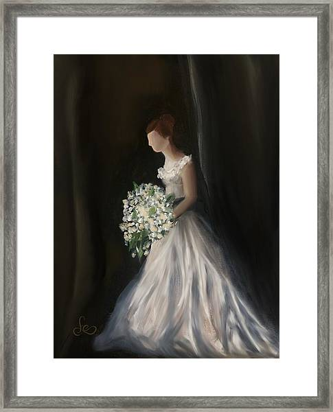 Framed Print featuring the painting The Big Day by Fe Jones