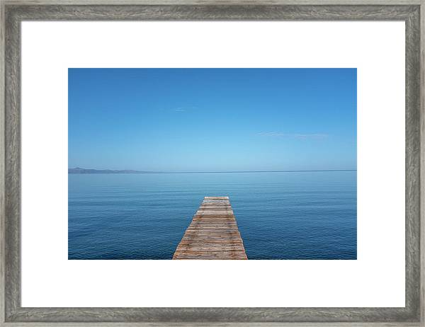 The Big Deep Blue Framed Print