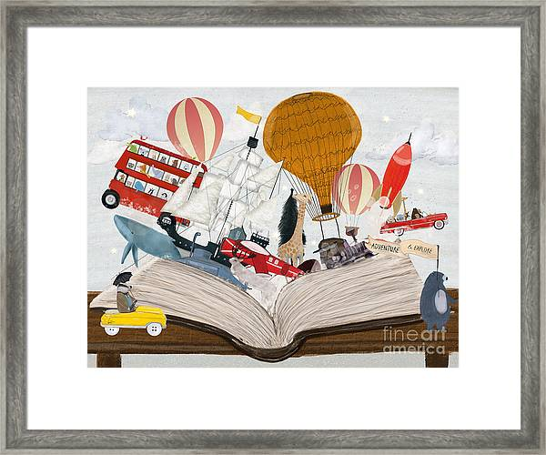 The Big Magic Adventure Book Framed Print by Bri Buckley
