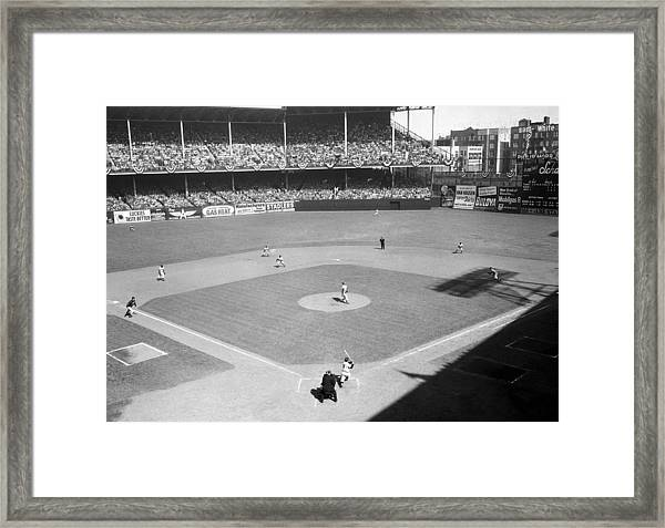 The Big Moment For The Yankees Arrives Framed Print