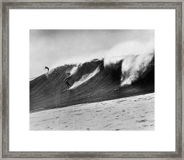 The Big One Framed Print by American Stock Archive