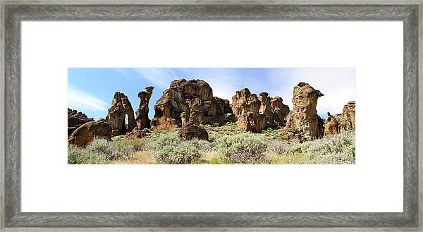 Arches Hoodoos And Castles The Big Picture Little City Of Rocks Framed Print