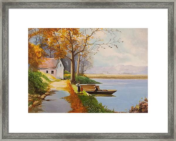 Framed Print featuring the photograph The Boat by Said Marie