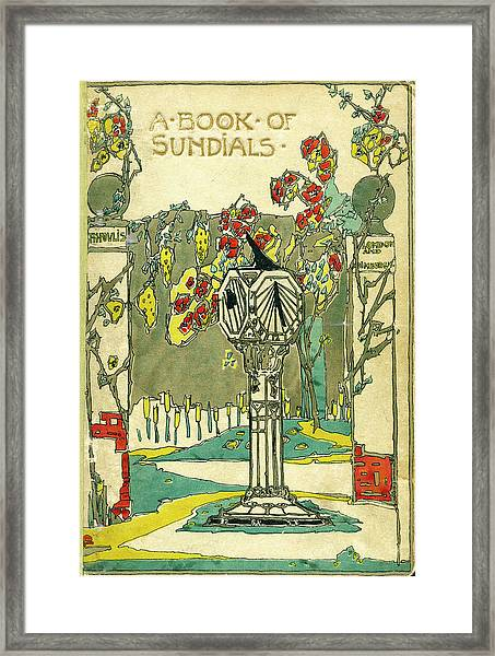 Cover Design For The Book Of Old Sundials Framed Print
