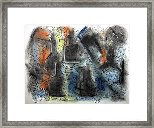 The Bottle Attacks Framed Print