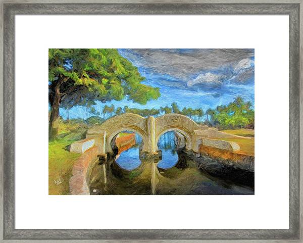 The Bridge At Ala Moana Park Framed Print