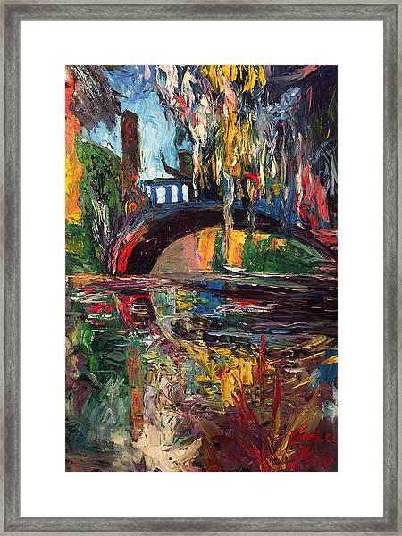 The Bridge At City Park New Orleans Framed Print