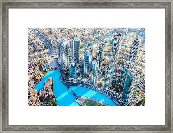 The Building In The Emirate Of Dubai Framed Print