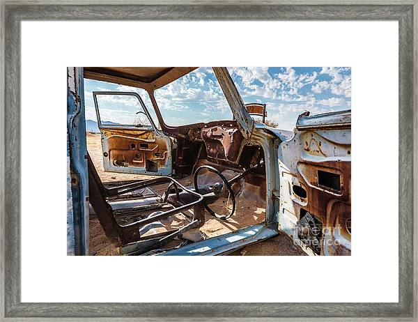 The Car Is Open, Please Come In Framed Print