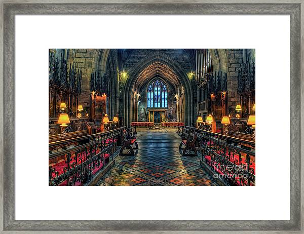 The Cathedral Church Of Saints Asaph And Cyndeym Framed Print