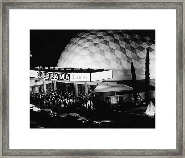 The Cinerama Dome Theatre In Hollywood Framed Print