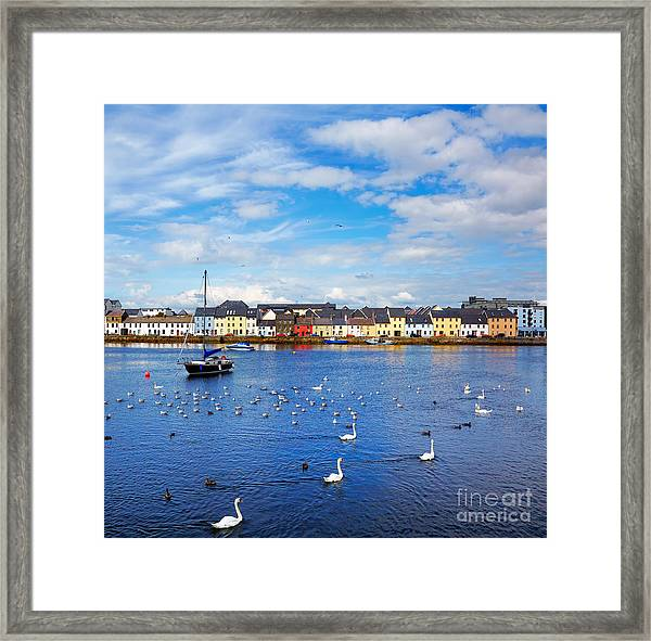 The Claddagh In Galway City During Framed Print