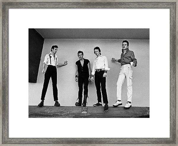 The Clash Portrait Session Framed Print