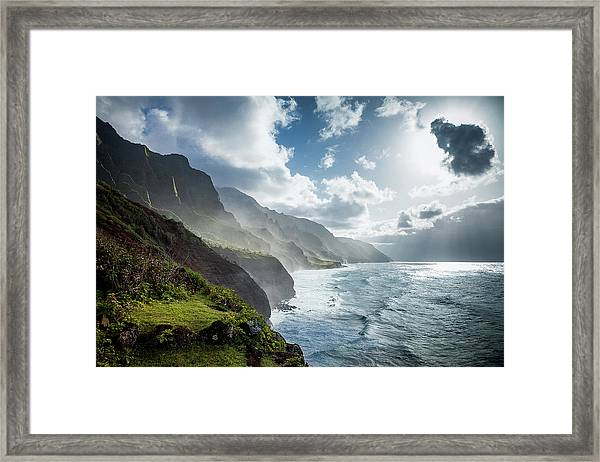 The Cliffs Of Kalalau Framed Print