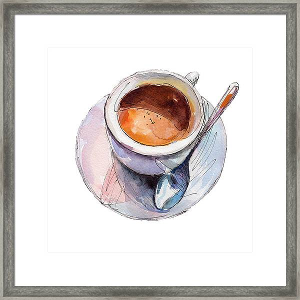 The Coffee Cup Isolated On White Framed Print