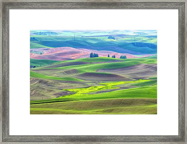 The Color Palette Of The Palouse Framed Print