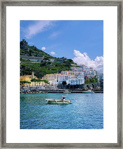 The Colorful Amalfi Coast  Framed Print