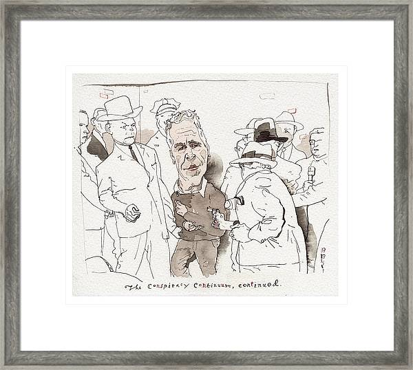 The Conspiracy Continuum Framed Print by Barry Blitt