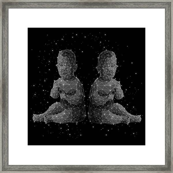 The Constellation Of Gemini Framed Print