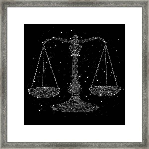 The Constellation Of Libra Framed Print
