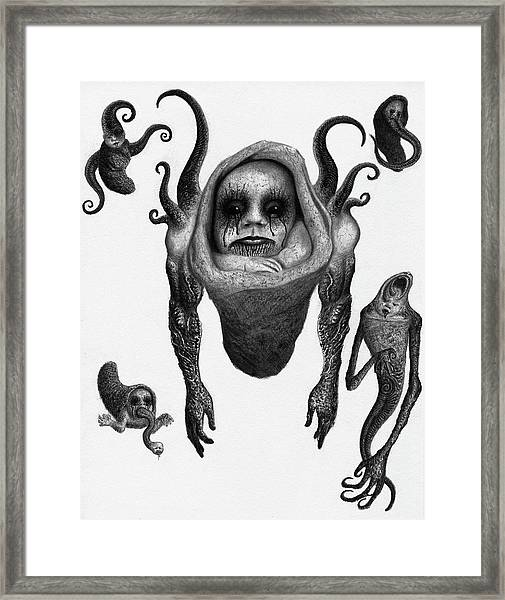The Corrupted Demon Profile - Artwork Framed Print