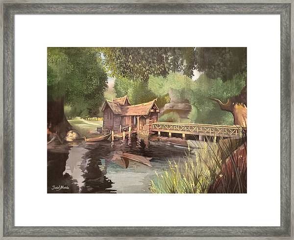 Framed Print featuring the painting The Cottage by Said Marie