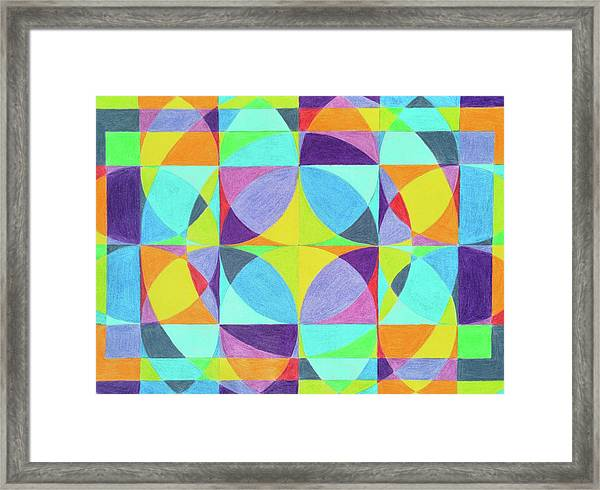 The Cross Of Light Effect Framed Print