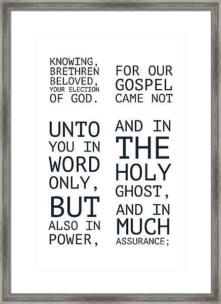 The Cross Speaks Of Jesus Framed Print