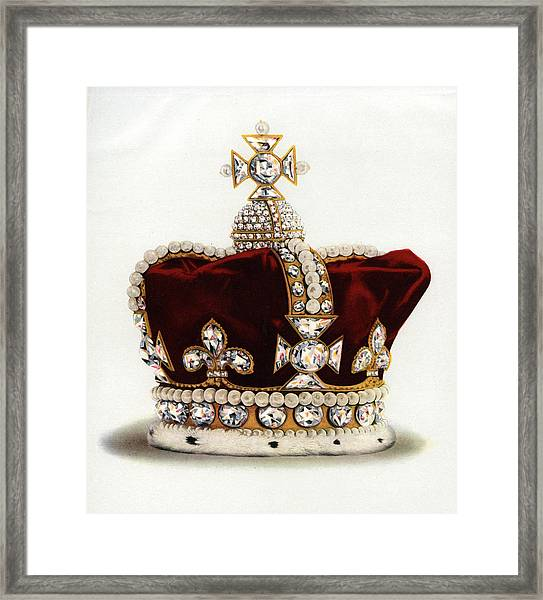 The Crown Of Queen Mary Framed Print