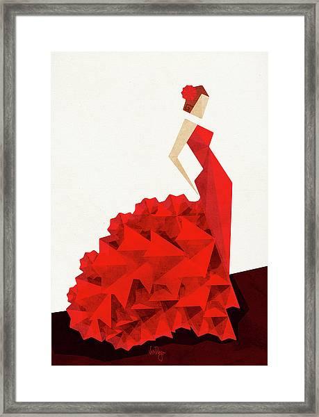 The Dancer Flamenco Framed Print
