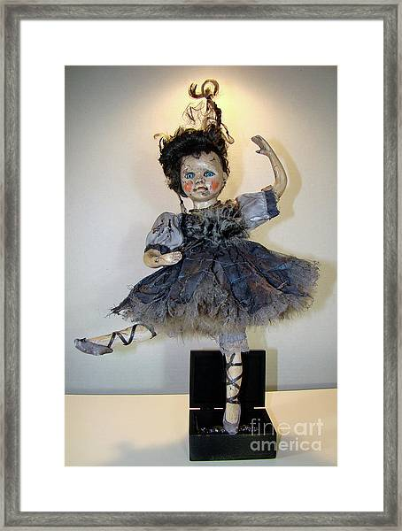 The Dark Ballerina Framed Print
