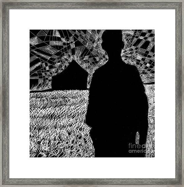 The Delta. Framed Print