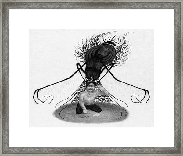 The Demon Left With Him... - Artwork Framed Print