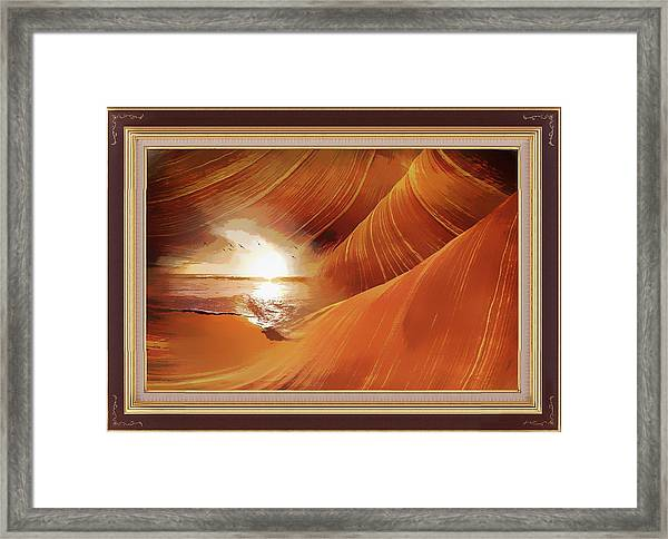 The Desert And The Tide Fantasy Framed Print