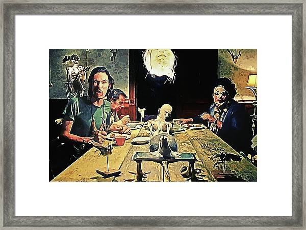 The Dinner Scene - Texas Chainsaw Framed Print