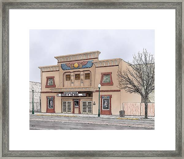 The Egyptian Theatre Framed Print