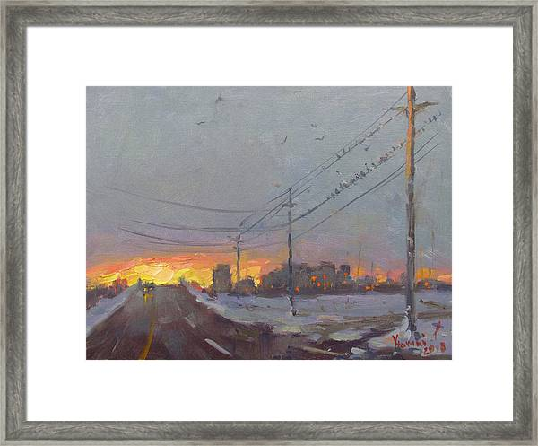 The End Of A Gray Day Framed Print