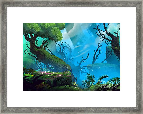 The Entrance Of Mystery Valley In A Framed Print