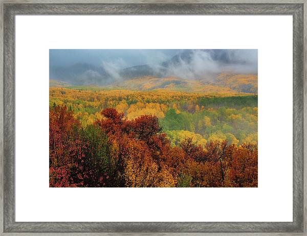 Framed Print featuring the photograph The Feeling Of Fall by John De Bord