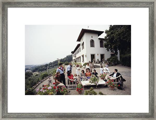 The Ferragamo Family Framed Print by Slim Aarons