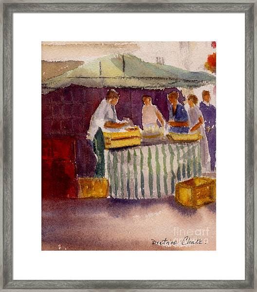 The Fishmonger Framed Print